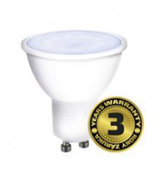LED žárovka, bodová, 7W, GU10, 6000K, 500lm, bílá, Solight WZ325A