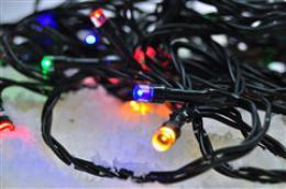 Solight LED venkovní vánoèní øetìz, 200 LED, 20m, pøívod 5m, 8 funkcí, èasovaè, IP44, vícebarevný, 1V102-M