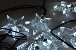 Solight LED vánoèní øetìz, hvìzdy, 20 LED, 3m, pøívod 3m, IP20, bílá, 1V30-W