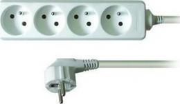 Solight prodlužovací pøívod, 4 zásuvky, bílý, 3m, PP22