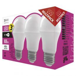 LED žárovka Classic A60 9W E27 neutrální bílá 3ks, EMOS ZQ5141.3