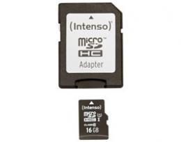 Pam�ov� karta 16GB micro SDHC Intenso Premium UHS-I + adapt�r