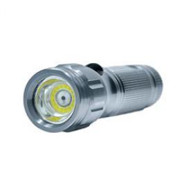 Solight svítilna, 3W COB + infra laser, støíbrná, 3x AAA, se šòùrkou, WL111