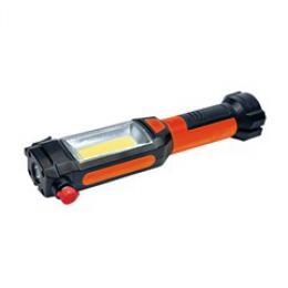 Solight multifunkèní LED svìtlo, 3W COB + 1W LED, klip, magnet, flexibilní, 3x AAA, WL112
