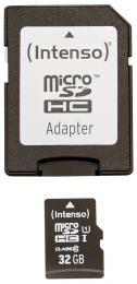 Pam�ov� karta Intenso 32GB micro SDHC Premium UHS-I + adapt�r
