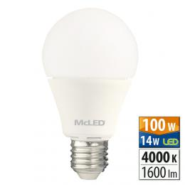 McLED LED žárovka 14 W E27 4000 K 240 °