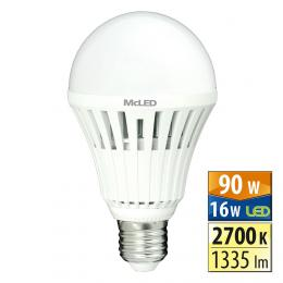 McLED ML-321.017.95.0,  LED žárovka 16 W E27 2700 K 150 °