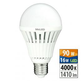 McLED ML-321.019.95.0,  LED žárovka 16 W E27 4000 K 150 °