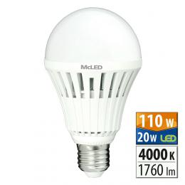 McLED ML-321.023.95.0, LED žárovka 20 W E27 4000 K 150 °