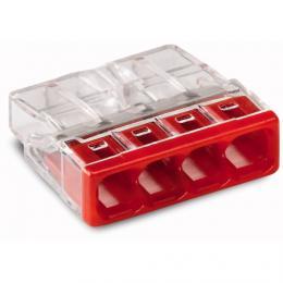WAGO 2273-204 svorka (4) - 0.5 - 2.5 mm2 - transparentní krabicová svorka