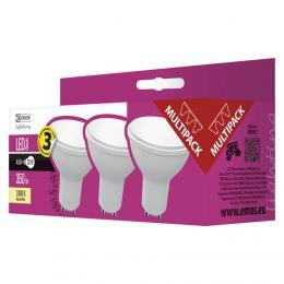 LED žárovka EMOS Classic MR16 4,5W GU10 teplá bílá 3ks