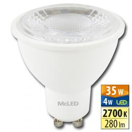 McLED LED spot 4 W GU10 2700 K 60 °, ML-312.134.99.0