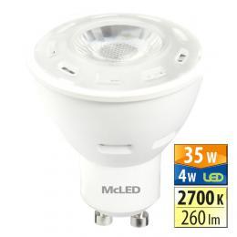 McLED LED spot 4 W GU10 2700 K 60 °, ML-312.115.99.0  - zvìtšit obrázek