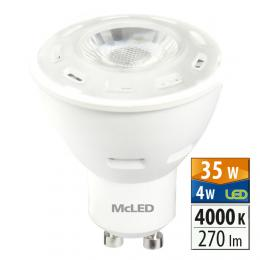 McLED LED spot 4 W GU10 4000 K 60 °, ml-312.117.99.0