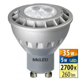 McLED LED spot 5 W GU10 2700 K 36 °, ML-312.065.99.0