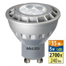 McLED LED spot 5 W GU10 2700 K 60 °, ML-312.066.99.0