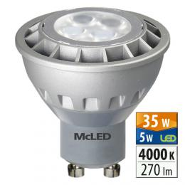 McLED LED spot 5 W GU10 4000 K 36 °, ML-312.067.99.0