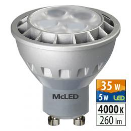 McLED LED spot 5 W GU10 4000 K 60 °, ML-312.068.99.0