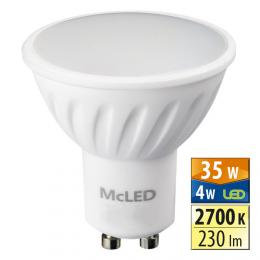 McLED LED spot 4 W GU10 2700 K 100 °, ML-312.094.99.0