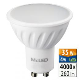 McLED LED spot 4 W GU10 4000 K 100 °,  ML-312.084.99.0