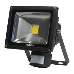 McLED LED reflektor se senzorem Troll 20 èerná, 4000K, 1500lm, 20W, ML-511.530.17.0