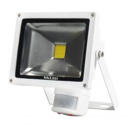 McLED Reflektorové LED svítidlo s pohybovým senzorem Troll 20 bílá, 4000K, 1500lm, 20 W, ML-511.531.17.0