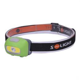 LED èelová svítilna, 3W Cree + 3W COB, 120lm, bílé + èervené svìtlo, 3x AAA, Solight WH24