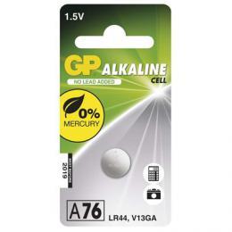 Alkalická knoflíková baterie GP LR44 (A76F), (AG13, LR44, LR1154, V13GA, PX76A), blistr