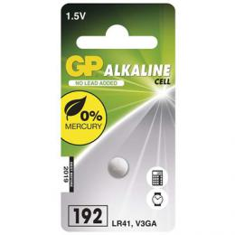 Alkalická knoflíková baterie GP LR41 (192F), blistr