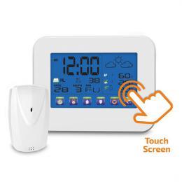 Solight meteostanice, velký dotykový barevný LCD, vnitøní/venkovní teplota, vlhkost, bílá, TE84