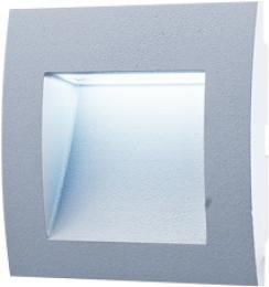 WALL 10 1,5W GRAY CW, GREENLUX GXLL002, vestavné venkovní svítidlo