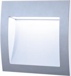 WALL 30 3W GRAY CW, GREENLUX GXLL006, vestavné venkovní svítidlo