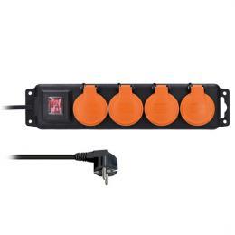 Solight prodlužovací pøívod IP44, 4 zásuvky, vypínaè, venkovní, 3m, PP332