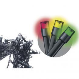 100 LED øetìz, 10m, studená bílá/multicolor, programy, EMOS ZY2012