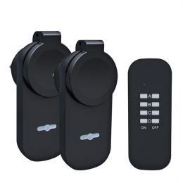 Solight dálkovì ovládané venkovní zásuvky set 2 + 1, 2 zásuvky, 1 ovladaè, learning code, DY12