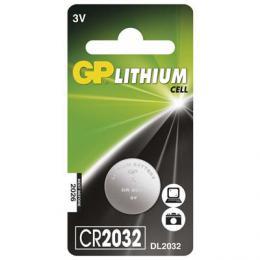 Lithiová knoflíková baterie GP CR2032, 3V, blistr 1 ks