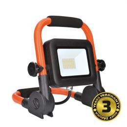 LED reflektor PRO se sklopným stojanem, 30W, 2550lm, 5000K, kabel se zástrèkou, IP65, Solight WM-30W-FEL