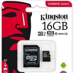 Pam�ov� karta microSDHC 16GB Kingston Class 10 w/a (EU Blister)