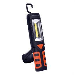 Multifunkèní nabíjecí LED lampa, 3W COB, 250 + 40lm, Li-Ion, USB, èernooranžová, Solight WM16