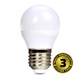 LED žárovka, miniglobe, 8W, E27, 3000K, 720lm, Solight WZ424