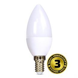 LED žárovka, svíèka, 8W, E14, 3000K, 720lm, Solight WZ423