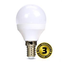 LED žárovka, miniglobe, 8W, E14, 3000K, 720lm, bílé provedení, Solight WZ425