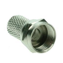 Anténní F-konektor, šroubovací, prùmìr: 6,5mm, 10ks, sáèek, Solight SSN6100E