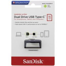 Flash disk SanDisk Ultra Dual USB-C Drive 16 GB