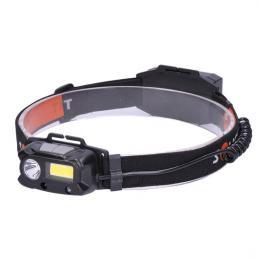 LED èelová nabíjecí svítilna, 3W + COB,150 + 60lm, Li-ion, Solight WN30