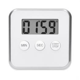 Digitální kuchyòská minutka, odpoèítání nebo pøièítání èasu, bílá barva, magnet pro pøichycení, Solight CA03W
