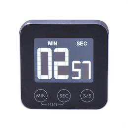 Digitální kuchyòská minutka, odpoèítání nebo pøièítání èasu, hliník, èerná barva, magnet pro pøichycení, Solight CA02B