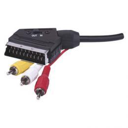 AV kabel SCART - 3x CINCH 1,5m, EMOS SB2101