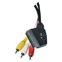 AV kabel SCART - 3x CINCH 1,5m, EMOS SD2101