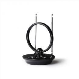 Aktivní pokojová Hama DVB-T/T2 anténa, kruhová, Performance 35, 121666
